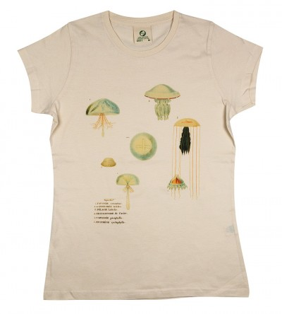 organic t-shirt science art jellyfish