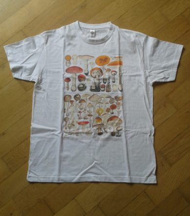 sci-art t-shirt mushrooms
