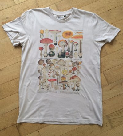 fair-trade t-shirt mushrooms