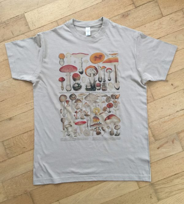 t-shirt mushrooms light-khaki